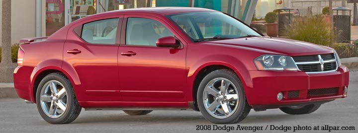Production of the 2008 Dodge Avenger began in the fourth quarter of 2006 at