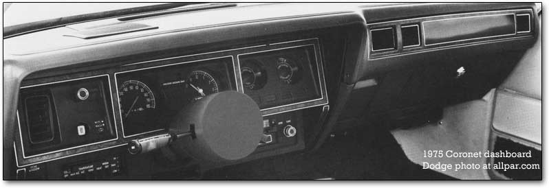 dodge coronet dashboard