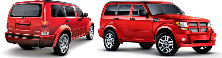 Dodge Nitro front and rear