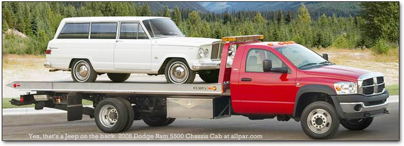 2008 dodge ram 5500 with tow truck