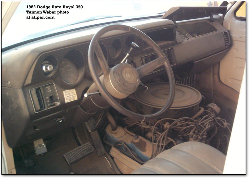 1982 dodge van interior