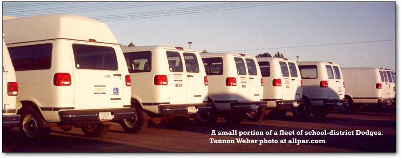 fleet of dodge vans