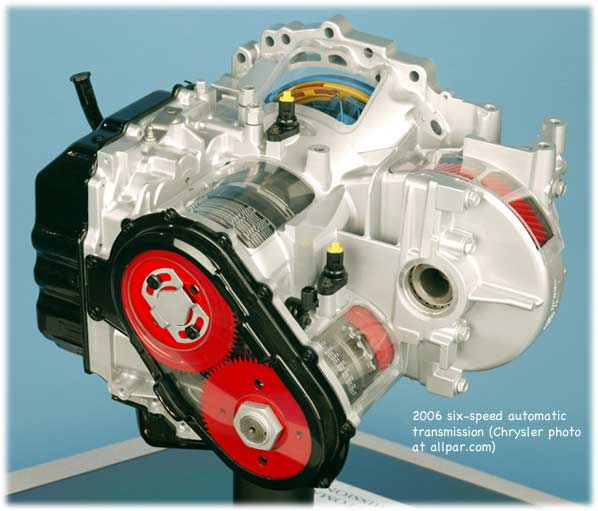 The chrysler 62te automatic transmission transaxle