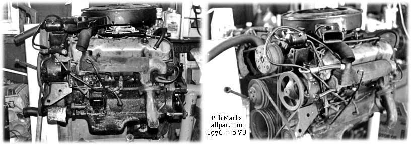Chrysler Dodge Plymouth 440 Six Pack Engine Information