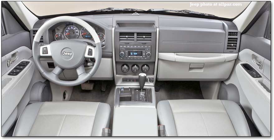 inside the 2008 jeep liberty