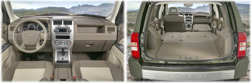 inside the 2007 Jeep Patriot