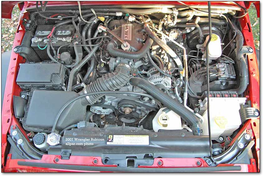 jeep rubicon 3.8 liter V6 engine