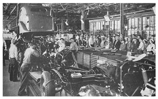 Plymouth cars factory in 1935