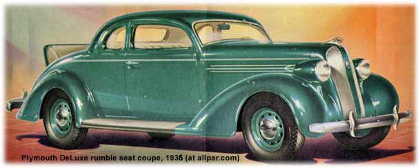 1935 Plymouth DeLuxe coupe cars