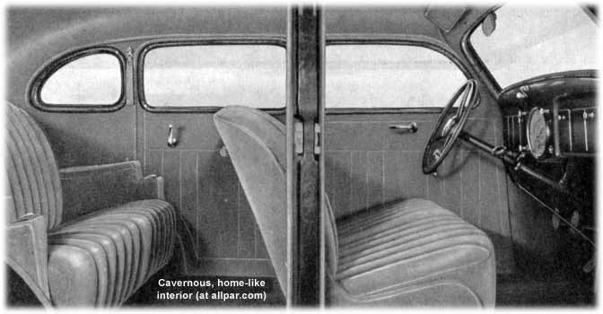 inside the 1935 Plymouths