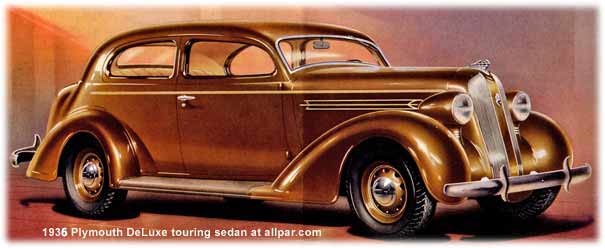 1935 Plymouth cars - touring sedan