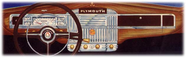 1946 Plymouth cars - dashboard