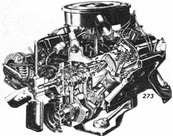 v engines and  273 mopar chrysler engine