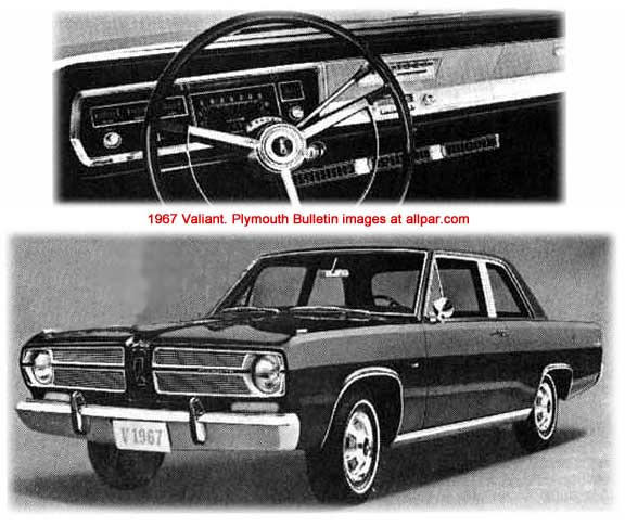 1967 Plymouth Barracuda interior and exterior of car