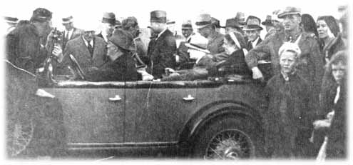 FDR in his plymouth car