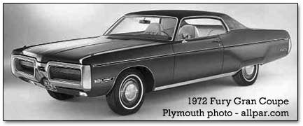 1972 plymouth fury gran coupe cars