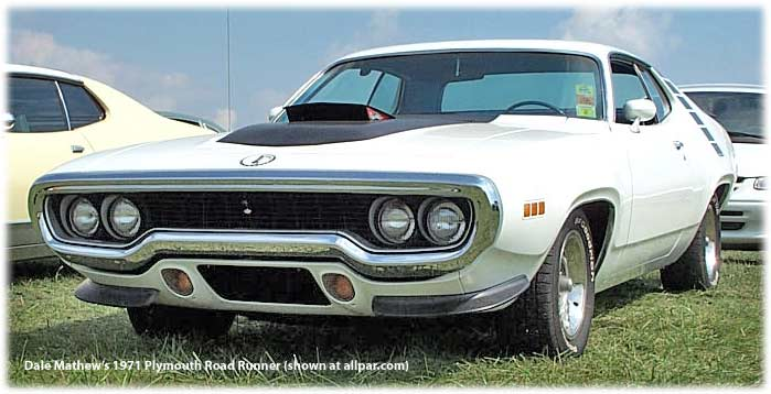 ... Hemi; the 1969 and 1970 Road Runner had the 383, Hemi, or 440 triple