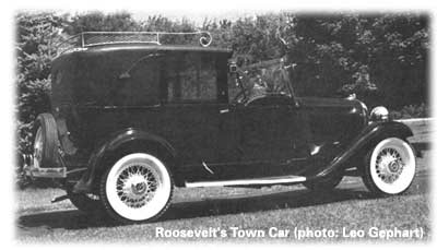 Ealenor Roosevelt's Plymouth town car