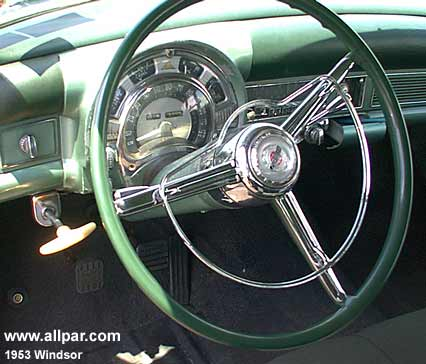 1953 Chrysler Windsor cars - interior