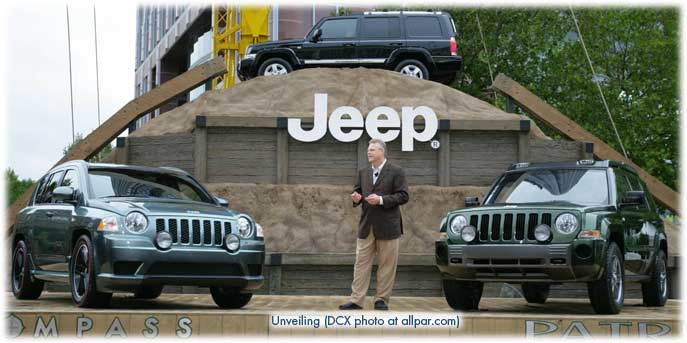The Jeep Patriot concept debuted at the 2005 International Motor Show (IAA)