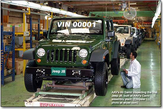 Jeep J8 at the factory