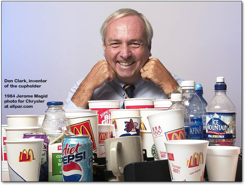 Don Clark, inventor of the cupholder