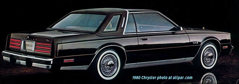 1980 chrysler cars lebaron newport new yorker cordoba. Black Bedroom Furniture Sets. Home Design Ideas
