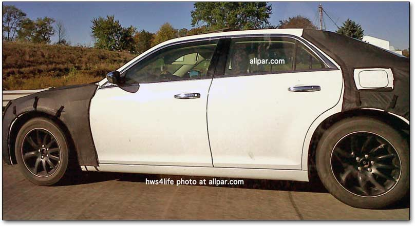 allpar has just posted more spy shots of the chrysler 300c this