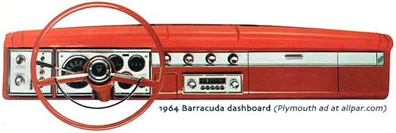 1964 barracuda dash