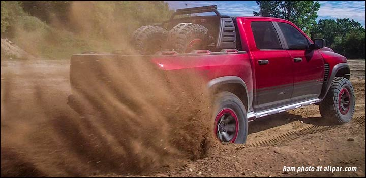 Ram Rebel TRX racing truck