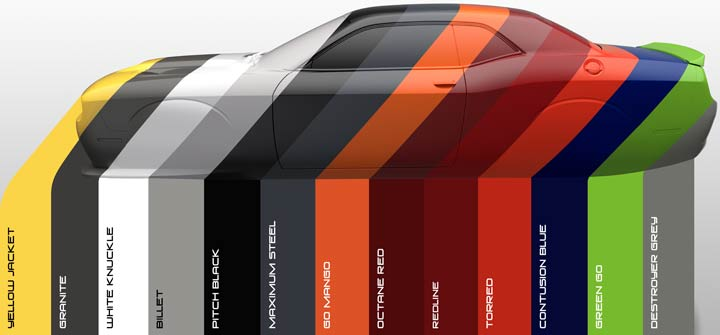 2017 dodge challenger paint colors
