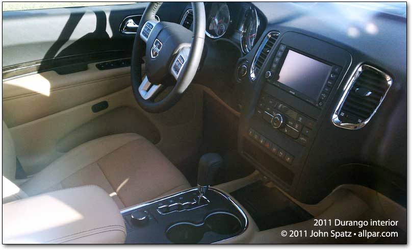 2011 Dodge Durango interior. oh2o wrote that the Crew and models will have