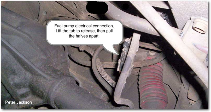 fuel pump electrical connction