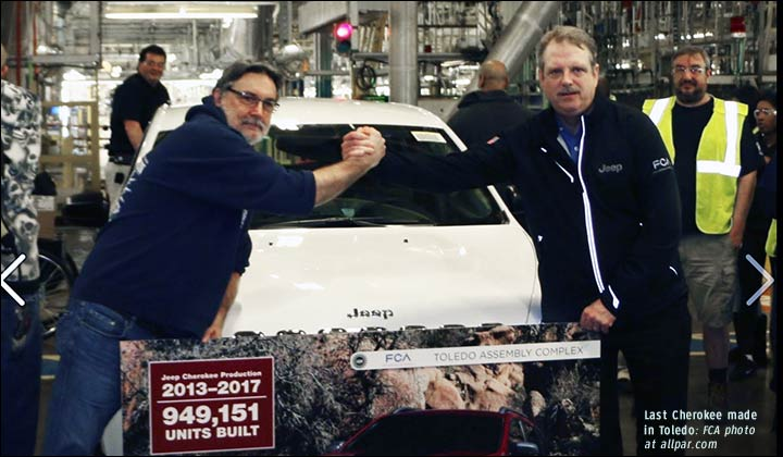 Last Jeep Cherokee from Toledo