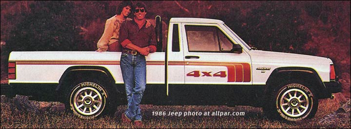 Jeep Comanche pickup trucks, 1986-1992