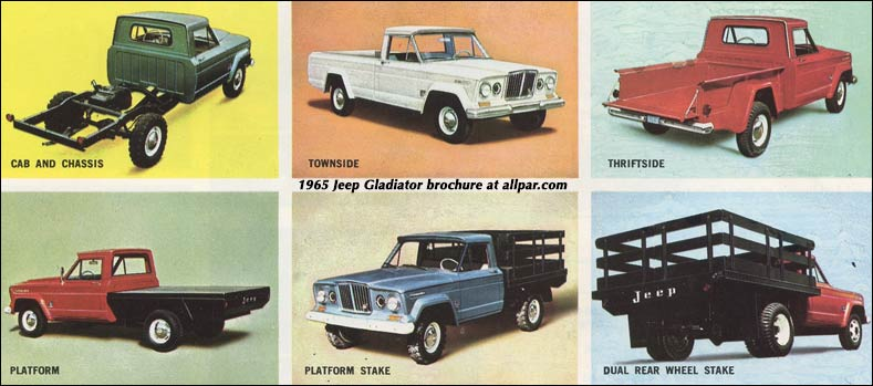 jeep gladiator and j series pickups 1965 brochure