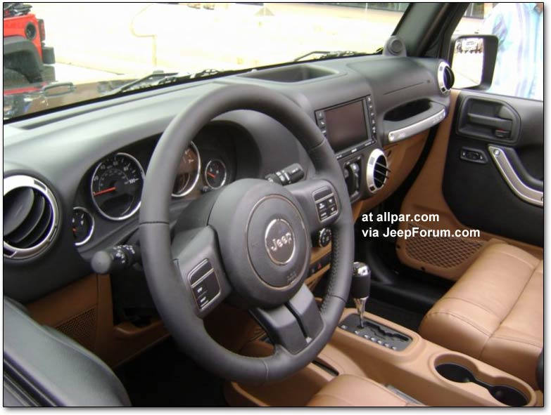 2011 jeep wrangler JK dash. The Sport B is said to be gaining steering-wheel