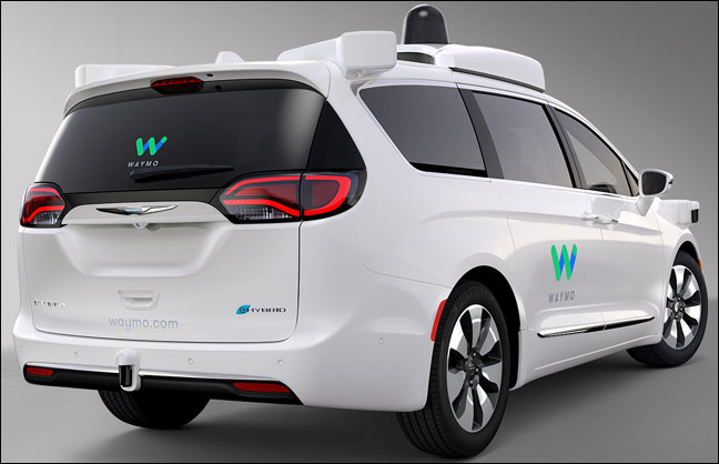 Waymo self-driving Pacifica minivan