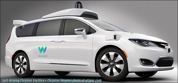 Waymo self driving Pacifica