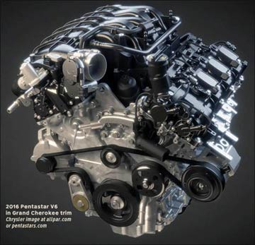 PUG - upgraded Pentastar engine