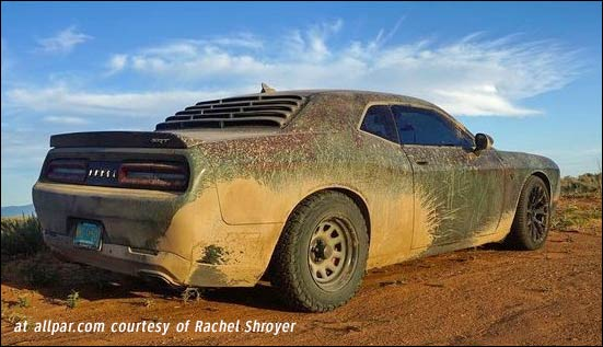 dodge challenger hellcat mud car