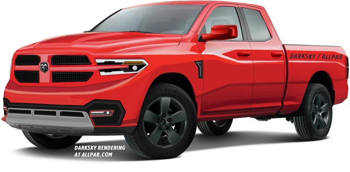 2019 Ram pickup red