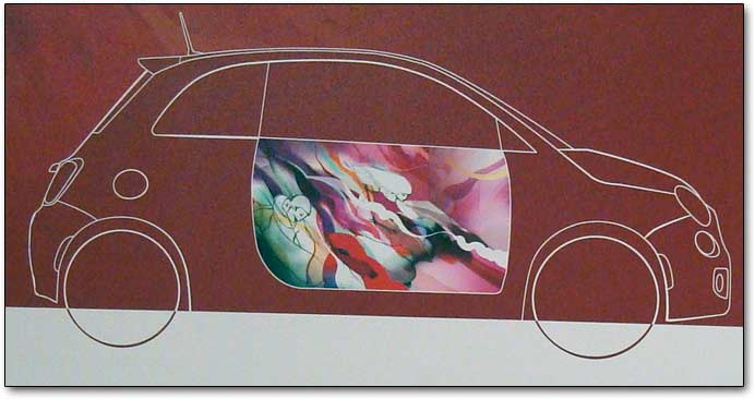Fiat 500 painting