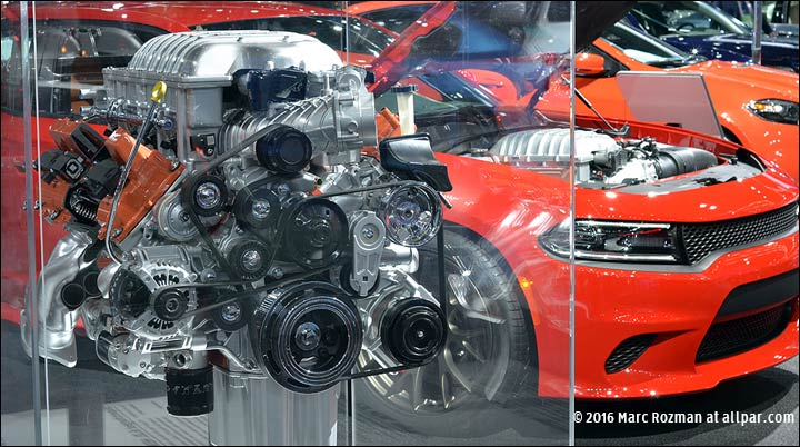 hellcat engine and car
