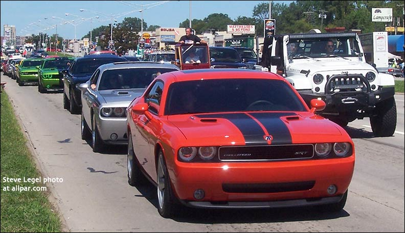 Dodge Challengers at Woodward