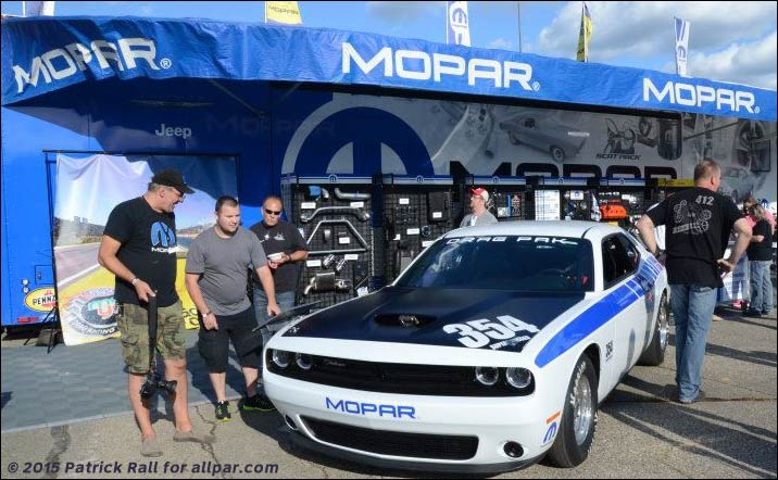 Mopar tent & Dodge and Roadkill at the 2015 Woodward Dream Cruise