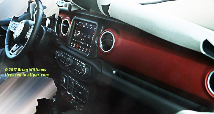 Inside the 2018 Jeep Wrangler (spy shot)