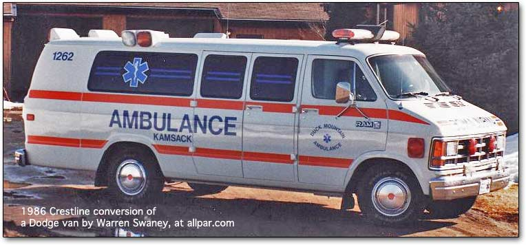 1986 crestline dodge ambulance
