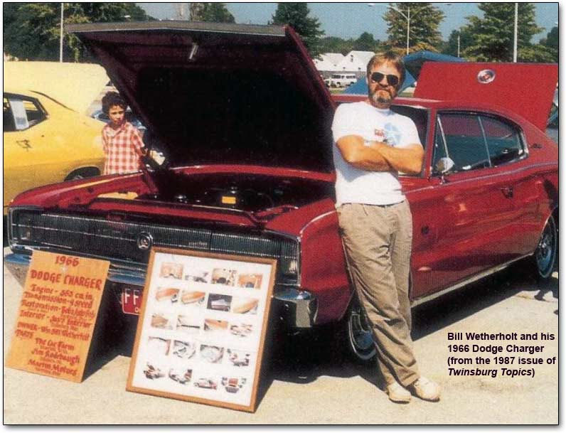bill wetherholt with his dodge charger in 1987
