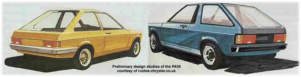 chrysler sunbeam cars - drawings